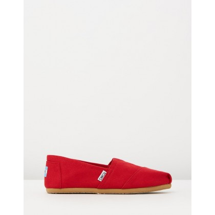 Women's Classic Alpargatas Red by Toms