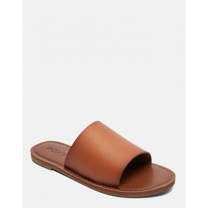 Womens Kaia Slide Sandals Brown by Roxy