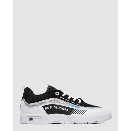 Womens Legacy 98 Slim Shoe BLACK/WHITE/SILVER by Dc Shoes