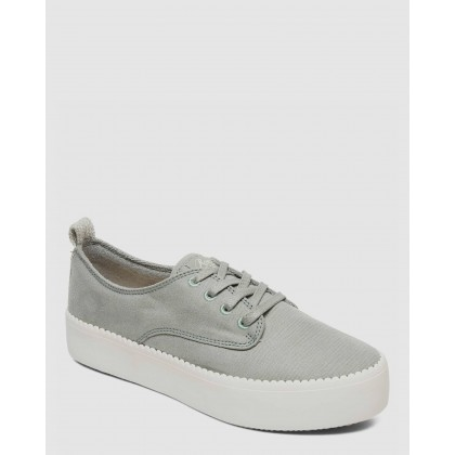 Womens Shaka Platform Sneakers Olive by Roxy
