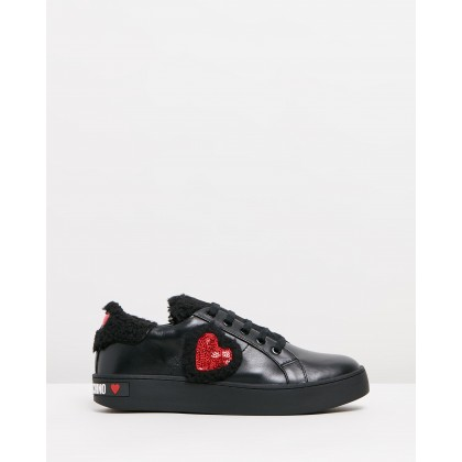 Woolen Sneakers Black by Love Moschino