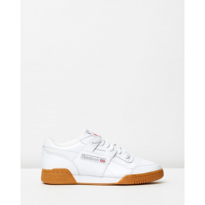 Workout Plus - Unisex White/Carbon/Classic Red/Reebok Royal & Gum by Reebok