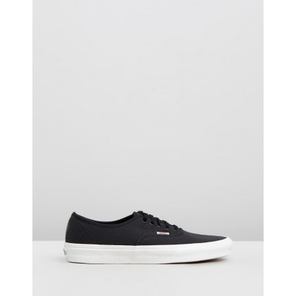 Woven Check Authentic - Women's Black & Snow White by Vans