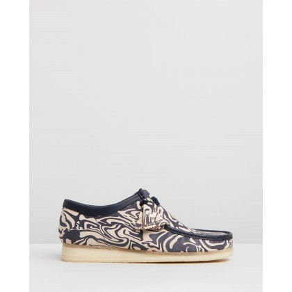 Wu Tang X Clarks Wallabee Navy Multi by Clarks Originals