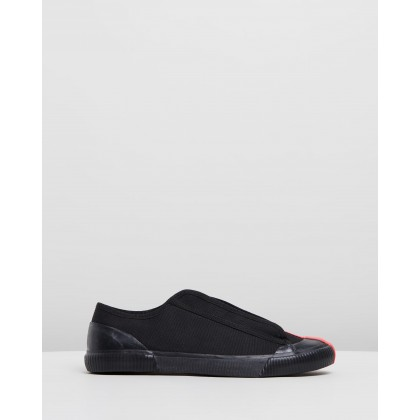 X Craig Green Sneakers Black Canvas by Grenson