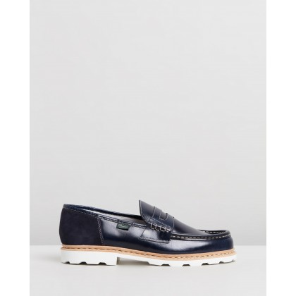 X Paraboot Loafers Navy by Bleu De Paname