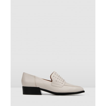 Xyler Loafers Bone Leather by Jo Mercer