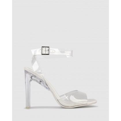 Yasmin Vinylite Heeled Sandals White by Zu