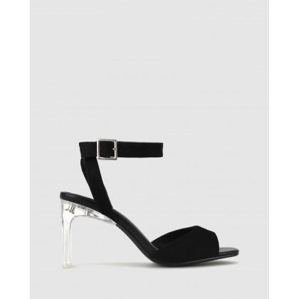 Yoyo Perspex Heel Sandals Black by Zu