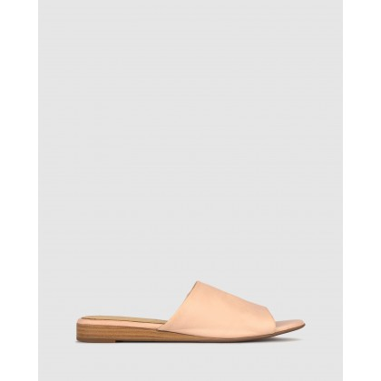 Yummy Leather Wedge Slides Blush by Airflex