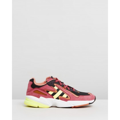 Yung-96 Chasm - Unisex Core Black, Hi-Res Yellow & Energy Pink by Adidas Originals