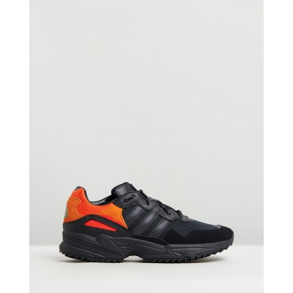 Yung 96 Trail - Men's Core Black, Trace Grey & Flash Orange by Adidas Originals