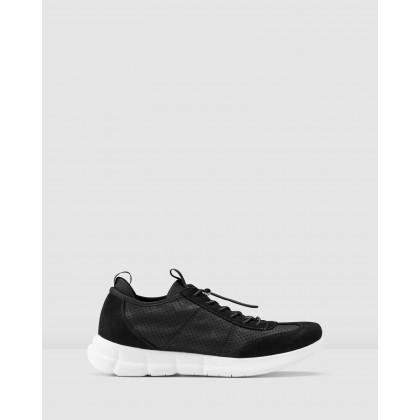 Zach Sneakers Black by Aq By Aquila