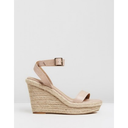 Zaina Wedges Nude by Spurr
