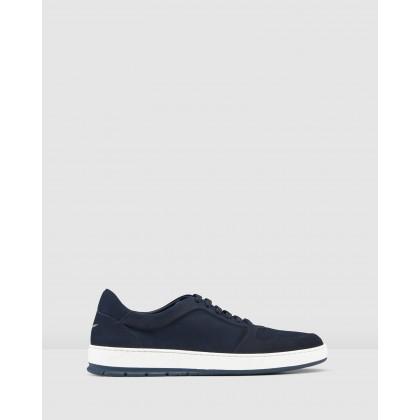 Zaniolo Sneakers Nubuck Navy by Aquila