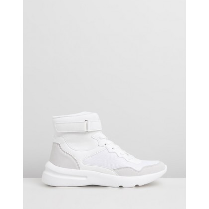 Zendaya High Top Sneakers White Tonal Multi by Rubi