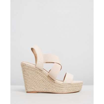 Zeta Wedges Nude Elastic by Spurr