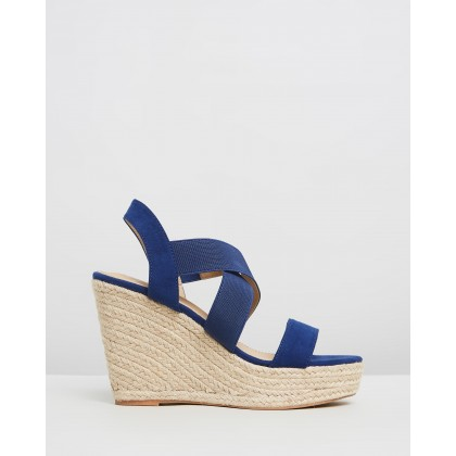 Zeta Wedges Navy Elastic by Spurr