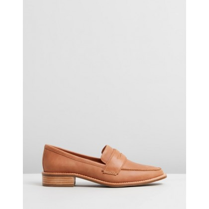 Zoey Loafers Choc Leather by Jo Mercer