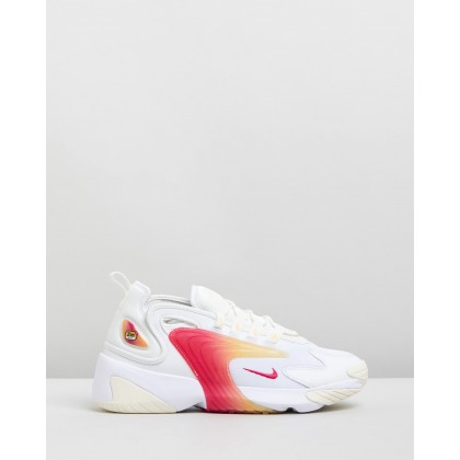 Zoom 2K - Women's White, Rush Pink. Sail & Melon Tint by Nike