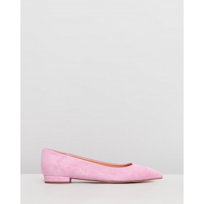 Pointy Toe Suede Flats Sundrenched Peony by J.Crew