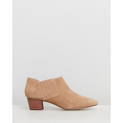 Suede Savannah Booties Melted Caramel by J.Crew