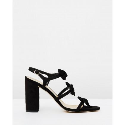 Bow Stella Sandals Black by Alan Pinkus