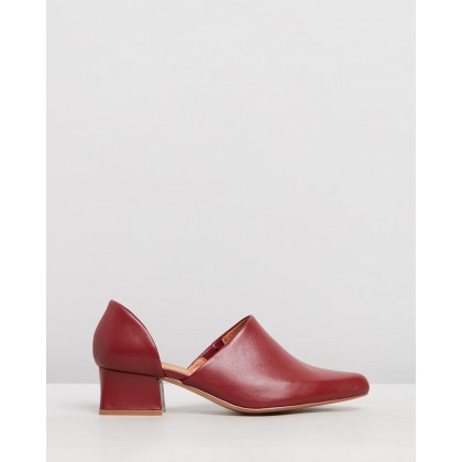 Cutout Loafers Aubergine by Jaggar The Label