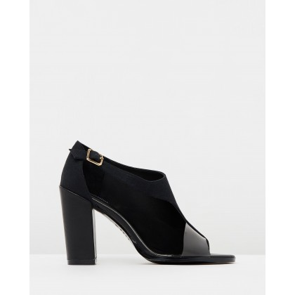 Epoch Linen Heels Black by Jaggar The Label