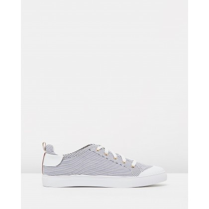 Lace Me Up Stripe Sneakers Stripe by Jaggar