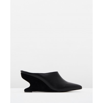 Form Wedge Mules Black by Jaggar