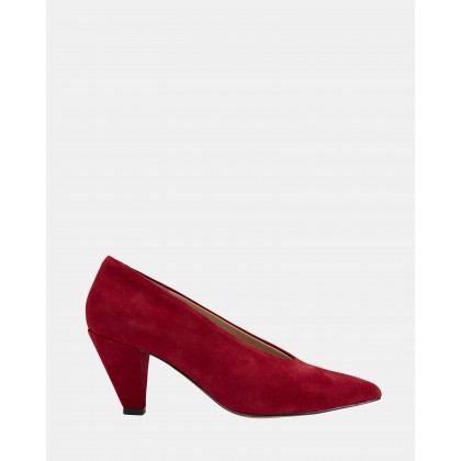Nancy Red Suede by Jane Debster