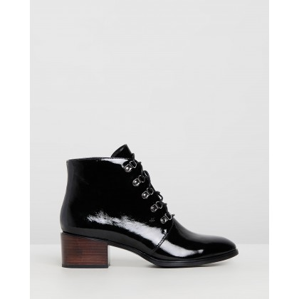 Maddox Ankle Boots Black Leather by Jo Mercer