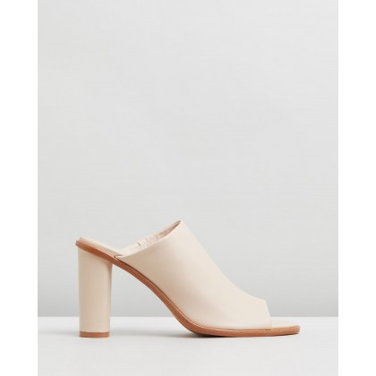 Portia High Slides Nude Leather by Jo Mercer