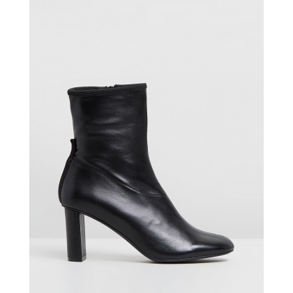 Leather Heeled Boots Black by Joseph