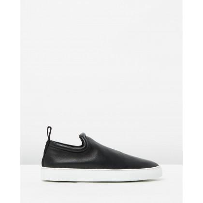 Slip-On Sneakers Nappa Stretch Black by Joseph