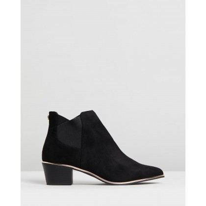 Elastic Low Boots Black by Lipsy