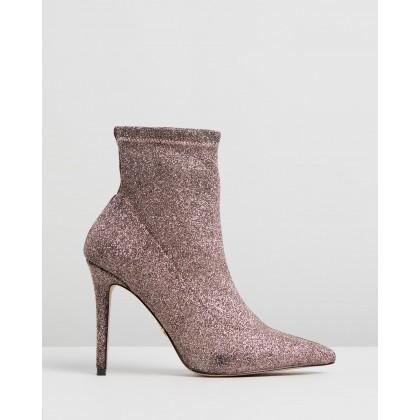Glitter Sock Boots Glitter by Lipsy