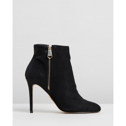 Reptile Detail Boots Black by Lipsy