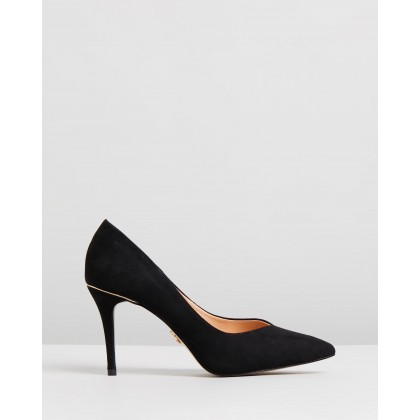 Mid Court Heels Black by Lipsy