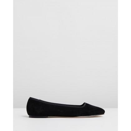 Jackie Suede Slippers Black by Mara & Mine