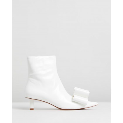 Ankle Boots With Bow White by Marc Jacobs
