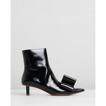 Ankle Boots With Bow Black by Marc Jacobs