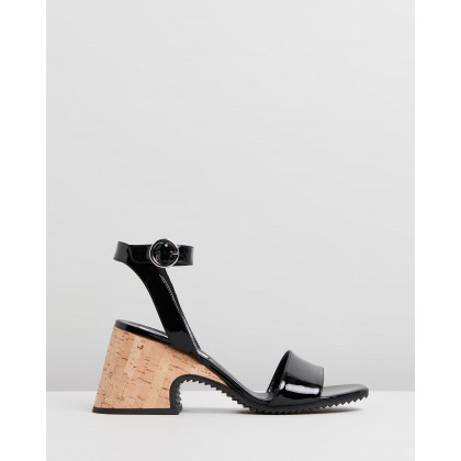 Lydia Sandals Black Patent by Mcq By Alexander Mcqueen