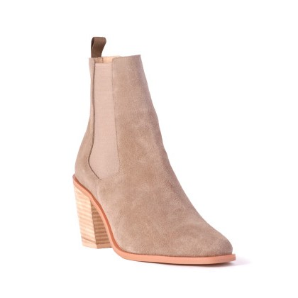 Meadow - Taupe Suede by Siren Shoes