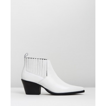 Roma Ankle Boots White by M.N.G