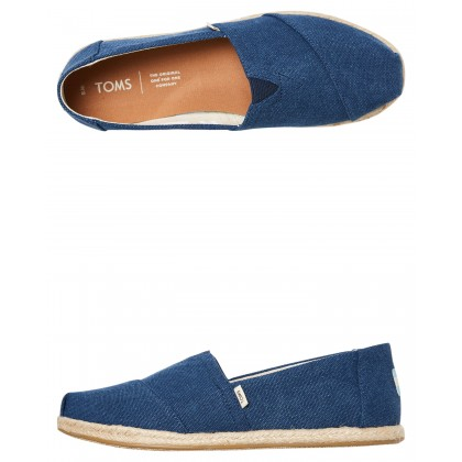 Womens Alpargata On Rope Shoe Navy Canvas