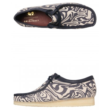 Mens Wu Tang Wallabee Lo Shoe Navy Multi