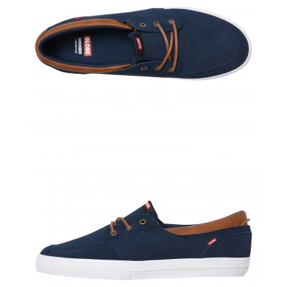 Attic Mens Shoe Navy Tan