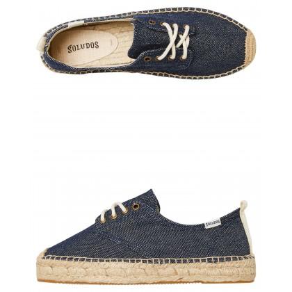 Oxford Lace Up Platform Shoe Navy